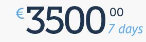 3500 € / 7 days