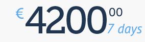 4200 € / 7 days